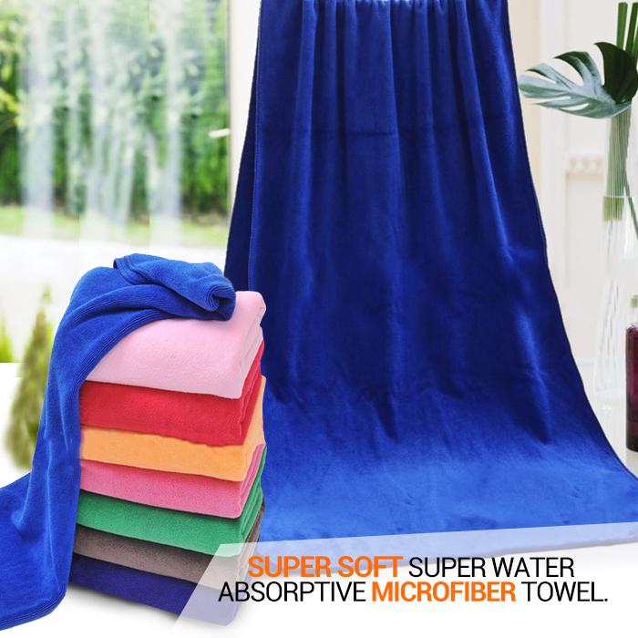 3pcs/pack 30*70 cm super soft Microfiber towels water absorption mop cloth kitchen dish car wash towel Brazil free shipping(China (Mainland))