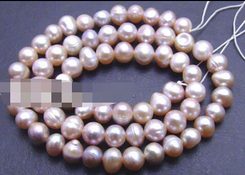 """Miss00227 SALE 6-7mm natural Purple Freshwater Pearl Loose Beads strands 14"""" 5pc(China (Mainland))"""