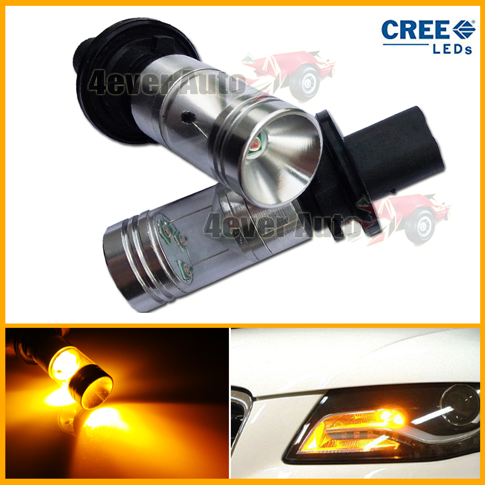 2pcs Amber Error Free PH24WY LED Bulbs For Audi Cadillac etc Front Turn Signal Lights(China (Mainland))