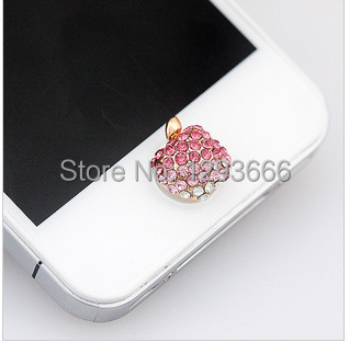 1pcs home button sticker for iphone 6/4s/5/5s iPad,diamond/cartoon sticker for iphone 5 6 plus free shipping(China (Mainland))