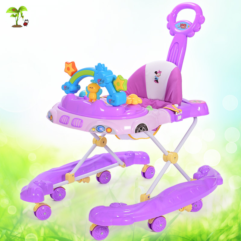 The new baby walker baby child U-shaped rollover multipurpose folding hand push toy walker...<br><br>Aliexpress
