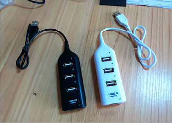 Mini USB 2.0 High Speed 4-Port 4 Port USB HUB Sharing Switch For Laptop PC Notebook Computer, Black/White Available