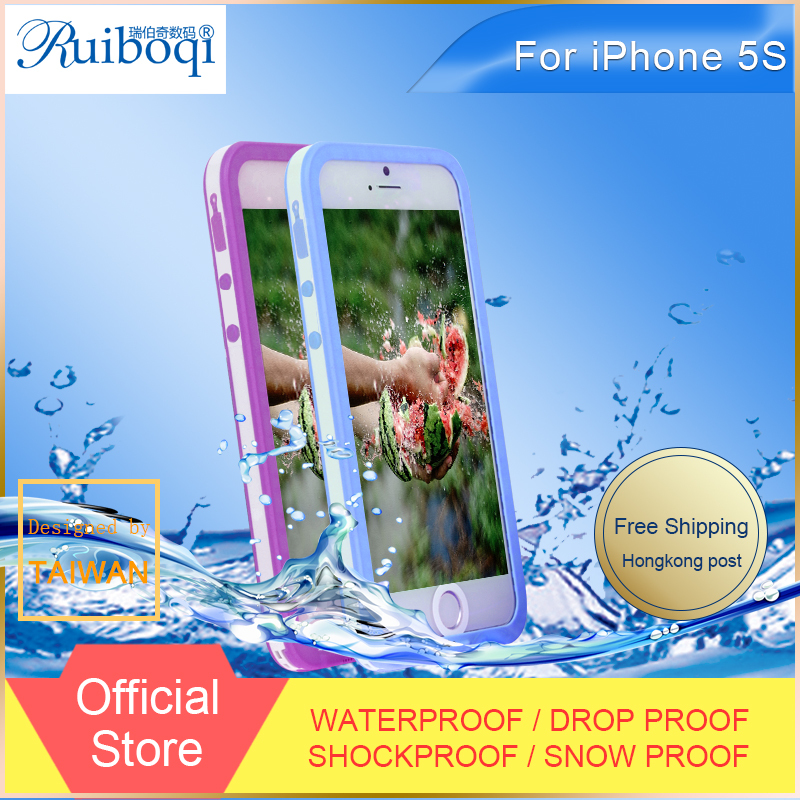 Really Fully Waterproof Cell Phone Cover Cases For iPhone 5S 5 Waterproof Cases for Diving Underwater Dirt Shockproof(China (Mainland))