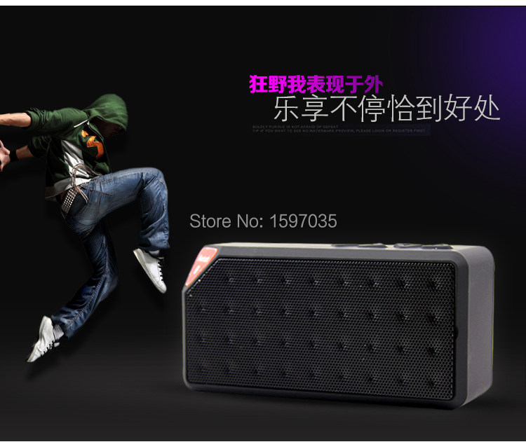 Mini X3 Bluetooth Speaker Portable Wireless Handsfree TF FM Radio Built in Mic MP3 Subwoofer with Detachable Battery 2014 New<br><br>Aliexpress