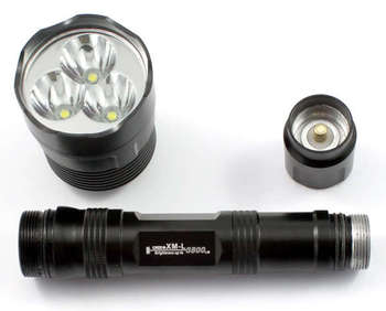 Free Shipping 3800Lumens TrustFire High Power Cree XM-L TR-3xT6 LED Flashlights Torch Lamp Light