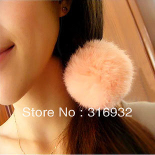 New style rabbit fur ball hair accessory hair rope rubber