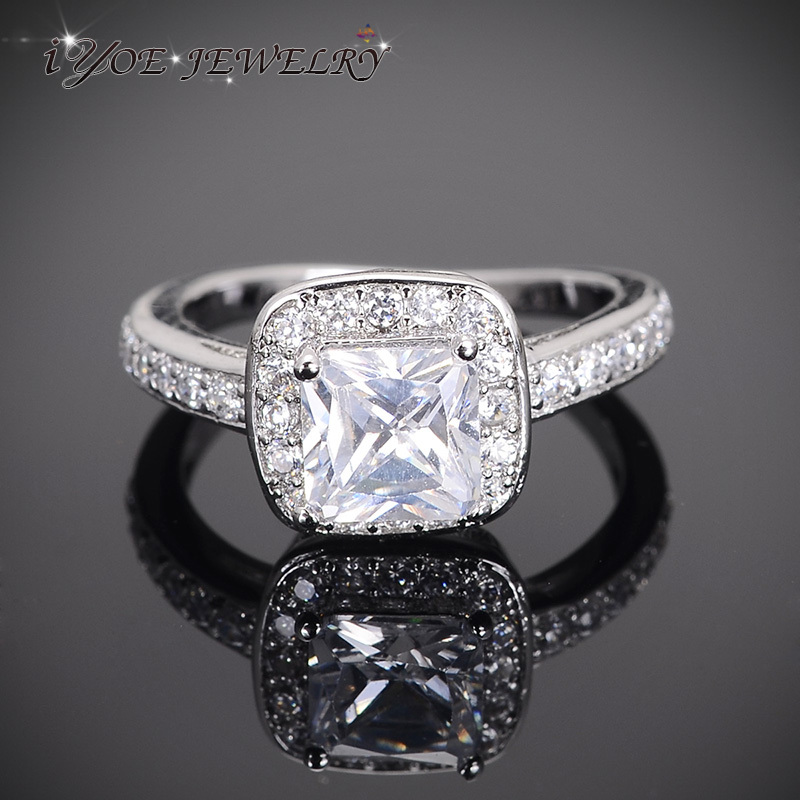 Crystal Bridal Jewelry Cubic Zirconia Diamond Engagement Wedding Rings