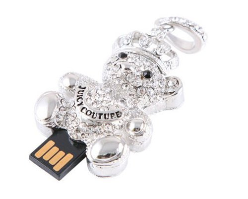 genuine 2G 4G 8G 16G 32G usb flash memory stick usb flash drive diamond jewel bear Free shipping wholesale 10pcs/lot(China (Mainland))