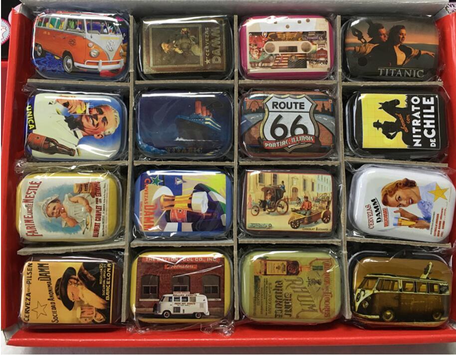 32pcs/set European Vintage Mini Metal Gift Tin Box Money Storage Bin Square Decorative Jewelry Boxes(China (Mainland))