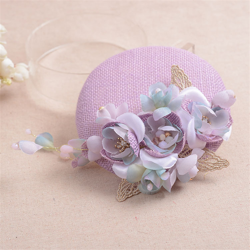 Fascinator Clip Hat With Flowers Bridal Headpiece Girls Wedding Hats And Fascinators Chapeu Cabelo Hair Accessories WIGO0850(China (Mainland))