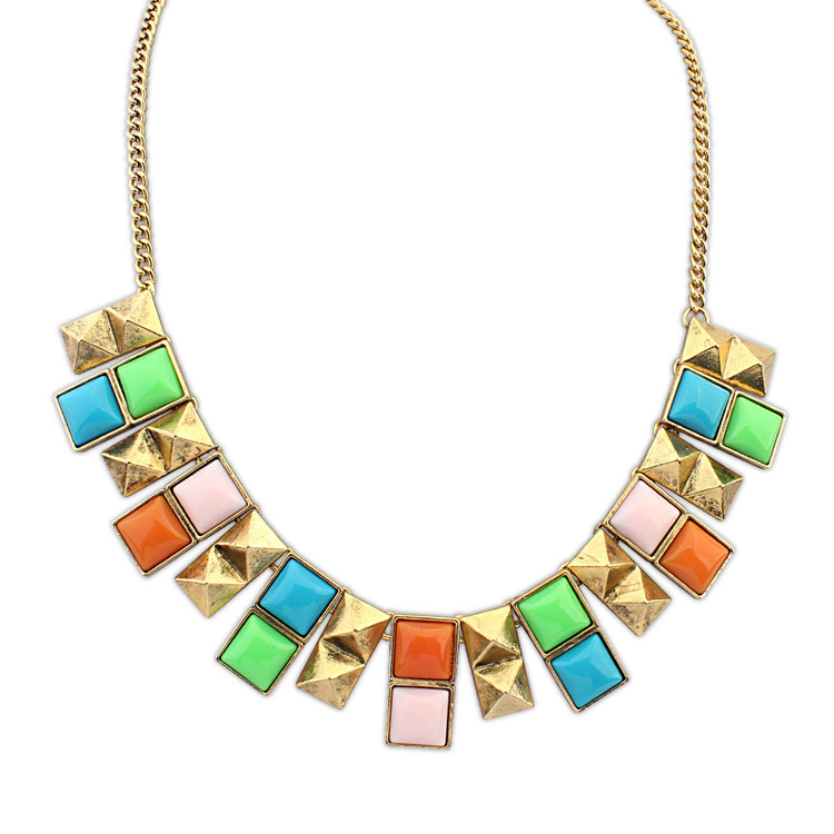 crystal Jewelry Sale Necklaces Statement Necklace 2014 New Metal Cone Necklace Welcome Global Buyers To Join The Purchasing(China (Mainland))