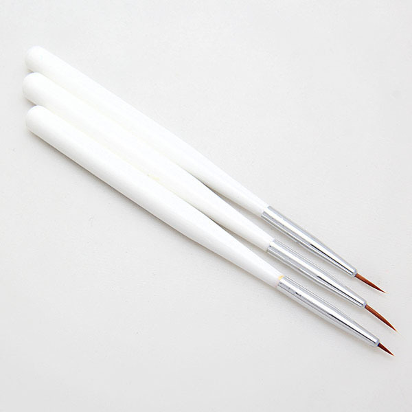 3 PCS Nail Gel Offer Sale Styling Tools Nail Polish Acrylic French Art Liner Painting Drawing Pen Brush Brushes(China (Mainland))