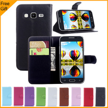 Luxury Leather Wallet/Card Holder and Cover For Samsung Galaxy Core Prime
