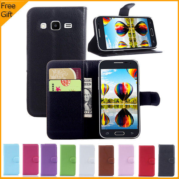 New Arrival Luxury Wallet Leather Case Cover For Samsung Galaxy Core Prime G360 G3606 G3608 Cell Phone Case With Card Holders(China (Mainland))