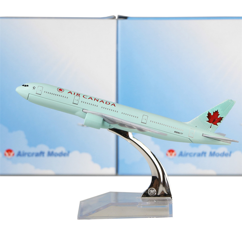 Air Canada plane model Boeing 777 16cm alloy metal model souvenir model aircraft collection(China (Mainland))