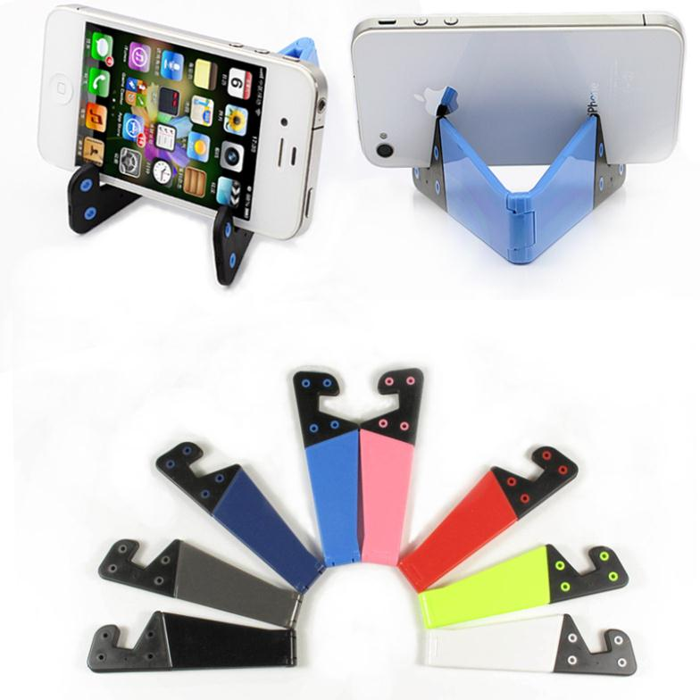 Foldable mobile cell phone stand holder for smartphone & tablet PC Universal Multi Color(China (Mainland))