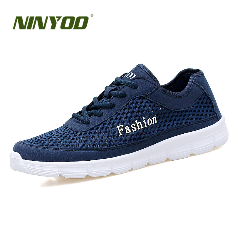 NINYOO Summer Loves Shoes Soft Outdoor Flats Men's Casual Shoes Beach Mesh Zapatillas Shoes Plus Size 4748 Fashion Walking Shoes(China (Mainland))