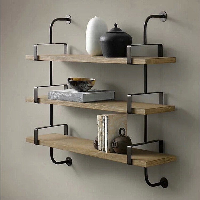 gull wall shelving day retro wall shelf wood clapboard shelves creative decorative wrought iron. Black Bedroom Furniture Sets. Home Design Ideas