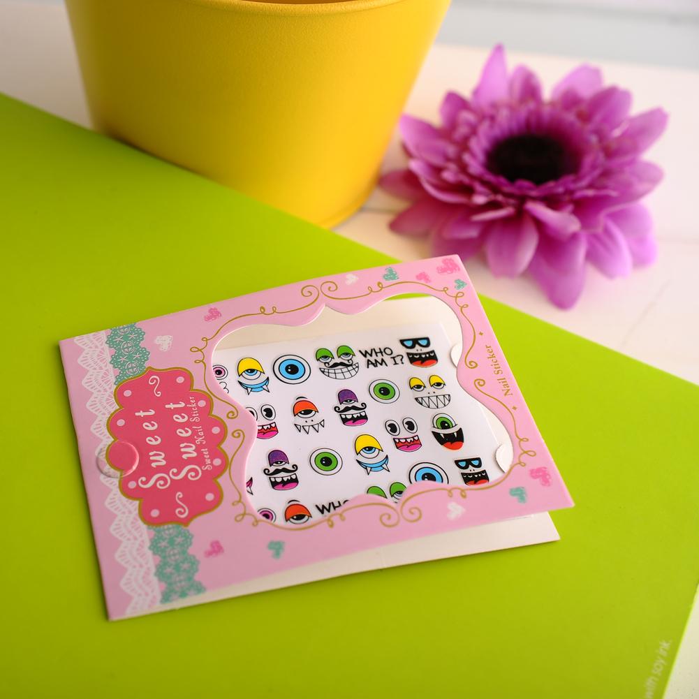 New Fashion Pro 3D Cartoon Eyeball Decal Stickers Nail Art Manicure Tips DIY Sell Hotting High Quality(China (Mainland))