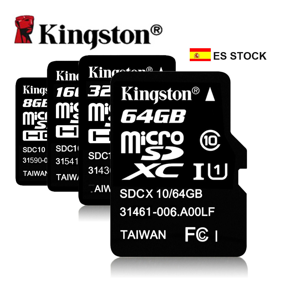 ES Stock Original Kingston Micro SD Card 8GB 16GB 32GB 64GB Class10 Memory Card Micro SD TF Flash Microsd Card Cartao de Memoria(China (Mainland))