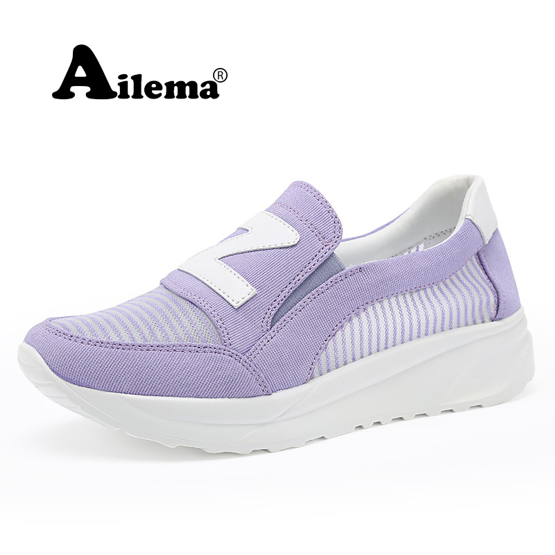 new 2016 casual shoes woman Summer Sport Soft Breathable Mesh Swing Wedges Shoes(China (Mainland))