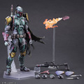 Star Wars Boba Fett Action Figure Play Arts Kai Toys PVC 270mm Anime Toys Boba Fett