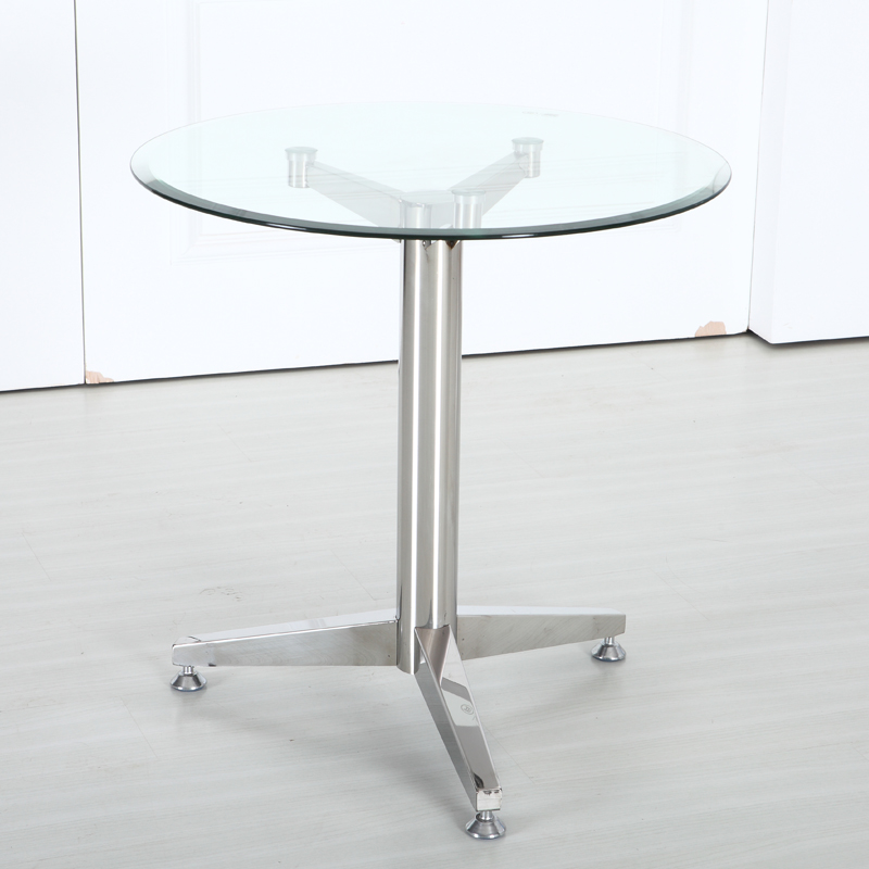 Small Apartment Modern Minimalist Glass Coffee Table Small Round Table To Discuss Several