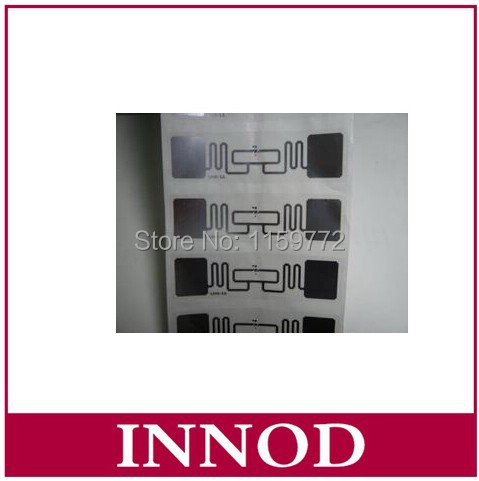disposable sport timming uhf rfid tag alien 9662 chip wet inlay epc gen2 long distance passive cheap rfid inlay paper stickers(China (Mainland))