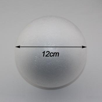 Бесплатная доставка оптовая продажа 12 см натуральный белый пенополистирол круглые шарики ремесло мяч пена поделки ручной работы окрашены шарик ( 12 шт./лот )