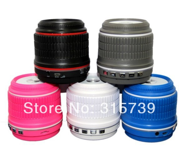 20pcs Mini camera lens Portable Bluetooth Wireless Speaker Slot Stereo Portable Speakers TF card For iPhone Samsung smartphone(China (Mainland))