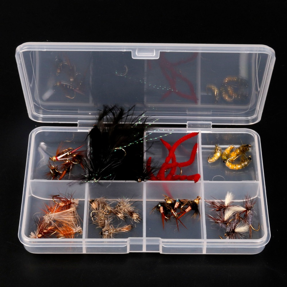 32 Pcs/Lot Fly Fishing Flies Fishing Lure Mixed Trout Flies Dry Fly Fishing Lures