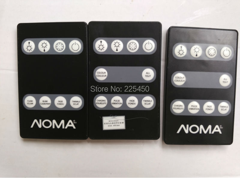1508 Compact Noma, IR Remote - on/off control, 6/18 timer, flash, fade, power cycle memory NOMA remote(China (Mainland))