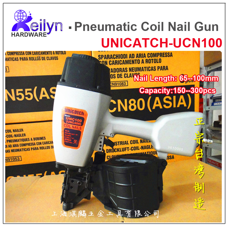UNICATCH CN100 (UNC400) Industrial Pneumatic Coil Nail Gun Coil Nailer made in Taiwan with high quality standard(China (Mainland))