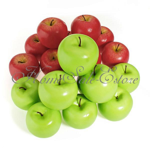 1 pcs Large Artificial Red Green Apple Fruit Vegetable Foam Home Party Decoration(China (Mainland))