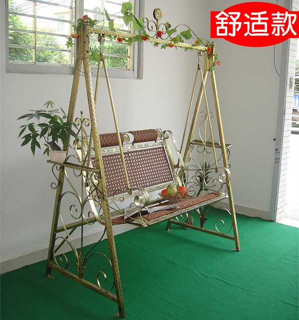 Rocking hammock hanging basket chair wicker chair for
