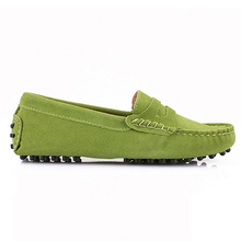 2017 Shoes Women 100% Genuine Leather Women Flat Shoes Casual Loafers Slip On Women's Flats Shoes Moccasins Lady Driving Shoes(China (Mainland))