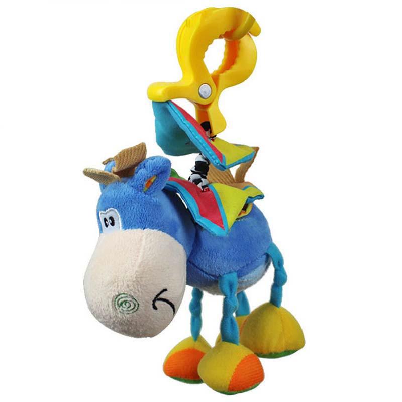 baby donkey plush clip rattles toys Infant educational hanging Bell band clamp animal rattles toys(China (Mainland))