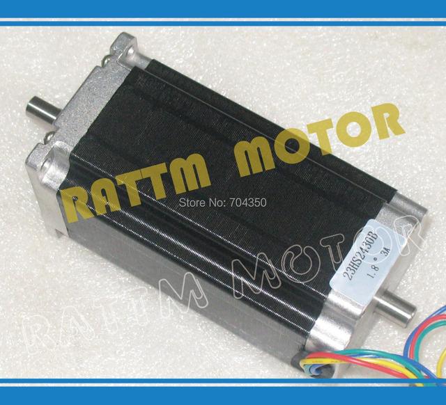 Buy dual shaft nema23 cnc stepper motor for Stepper motor holding torque calculator