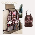 COLORLAND 54x37cm Baby Car Seat travel Bag Back hanging bags Organizer Holder tissue pocket insulated bottle