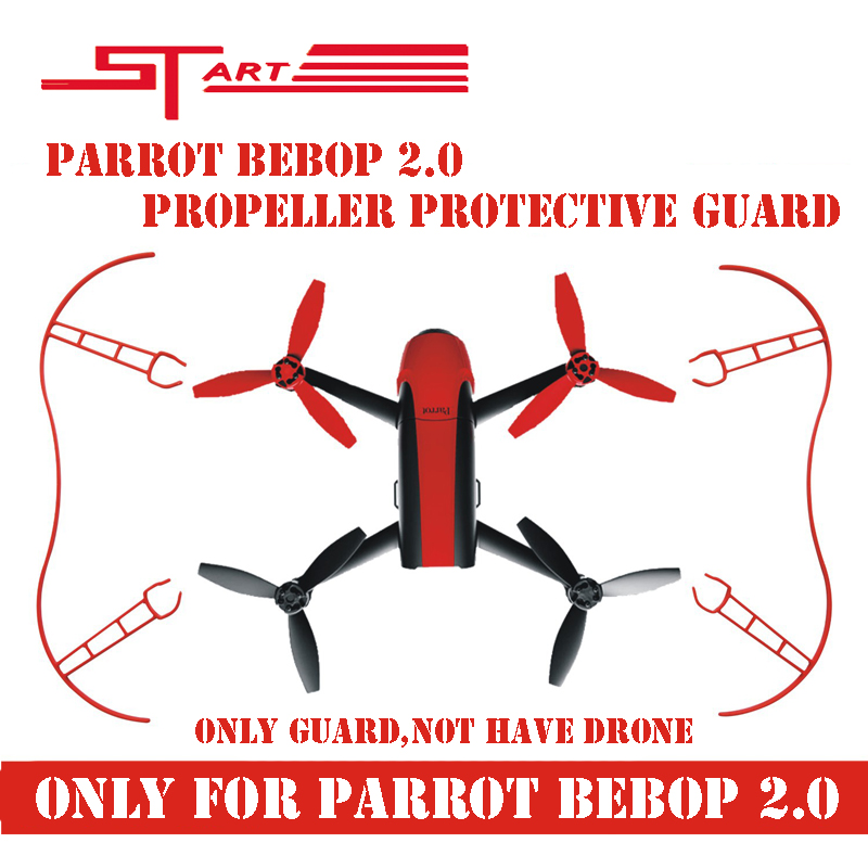 2016 Parrot RC Drone Propeller Prop Protective Guard Bumper Protector for Parrot Bebop 2.0 Quadcopter White Red Free Shiping(Hong Kong)