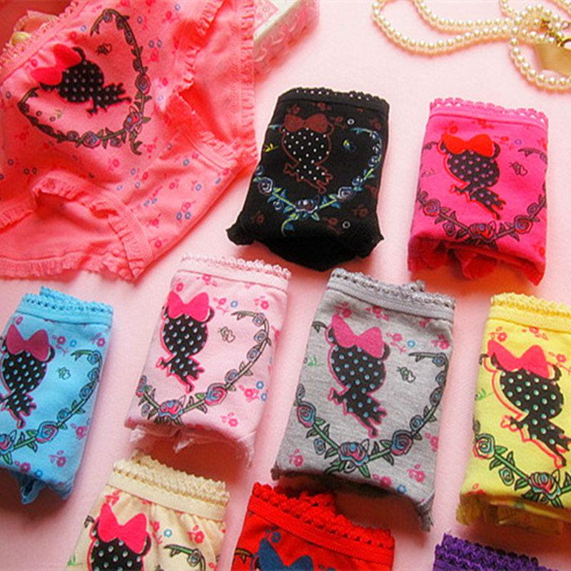 Teenage Cheap Underwear Candy Colors 95% Cotton 5% Spandex Women's Panties Cute Character Women Panty 3530(China (Mainland))