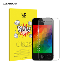 For Apple iPhone 4 4S 9H Explosion-proof Anti-scratch 2.5D Tempered Glass Screen Protector Film