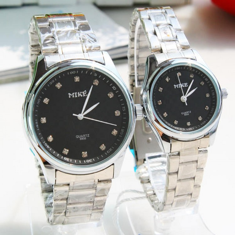 New Brand Luxury Classic Couple Lover Women Men Quartz watches Full Stainless Steel Wrist Watch Waterproof Function watches(China (Mainland))