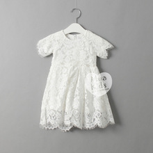 Kids Girls Crochet Lace Dresses Baby Girl Hallow Out Princess Dress 2016 Babies Summer Clothes Children