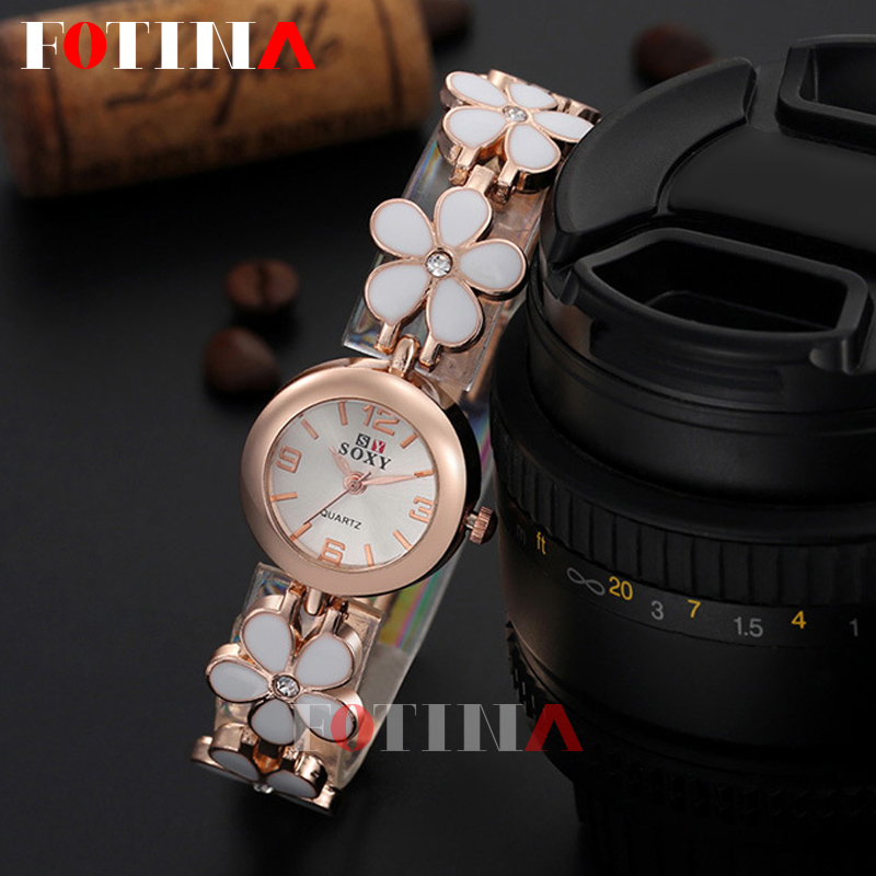 2016 Fashion Geneva Flower Watch Women Rose Gold Bracelet Wrist Watch Women Girl Dress Clocks Women Flower Watches Ladies Gift<br><br>Aliexpress