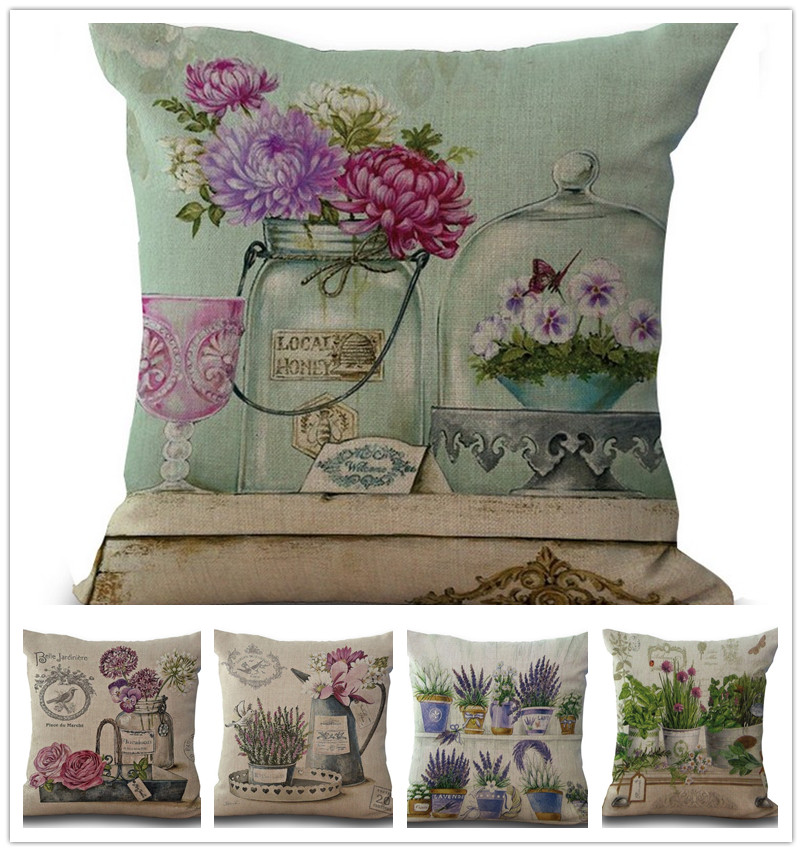 Buy wholesale vintage flowers pillow for Home decorations wholesale