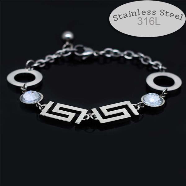 wholesale women men never fade guarantee complex fashion chain bracelet bracelet fashion jewelry wedding party gifts 180(China (Mainland))