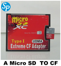 Free shipping new Dual micro sd card TF to Compact Flash CF type I card reader Extreme CF adapter UDMA