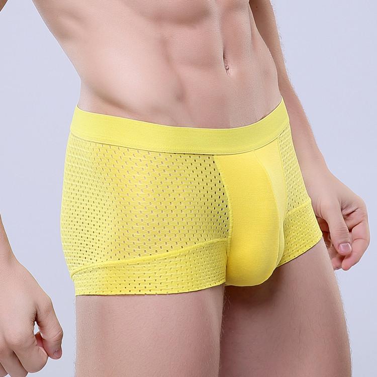 sexy men underwear brand shorts men boxers 3pcs lot 365 3 xxxl Meryl mesh u convex