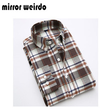 2016 All Cotton Autumn Casual Men Shirts Fashion Chemise Homme Slim Fit Plaid Camisa Social Masculina